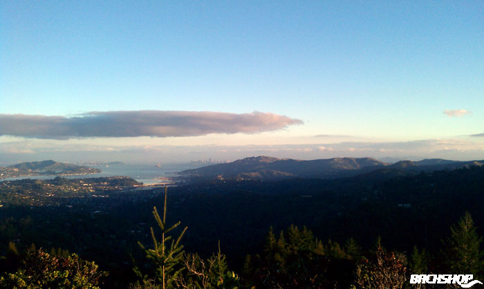 Back home. The view from Mt. Tamalpais.