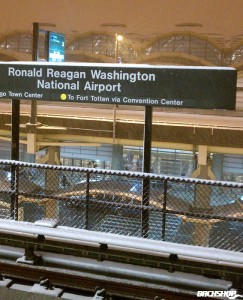 Snow at Reagan Airport.